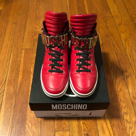 moschino red sneakers low cost 0dd6c 790aa